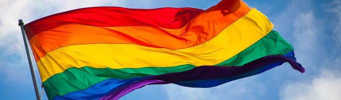 photo of a rainbow flag